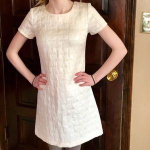 Textured Cream Xhilaration Formal Tea Dress